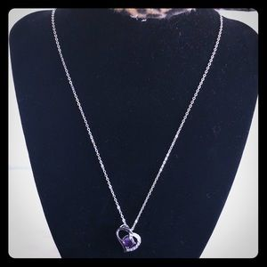 Jewelry - Gorgeous Silver & Cubic Zirconia Heart Necklace